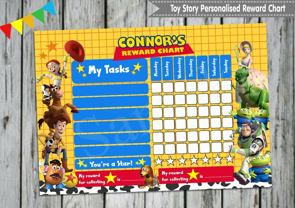 Toy Story Potty Chart : Toy story personalised reward chart buzz woody behaviour