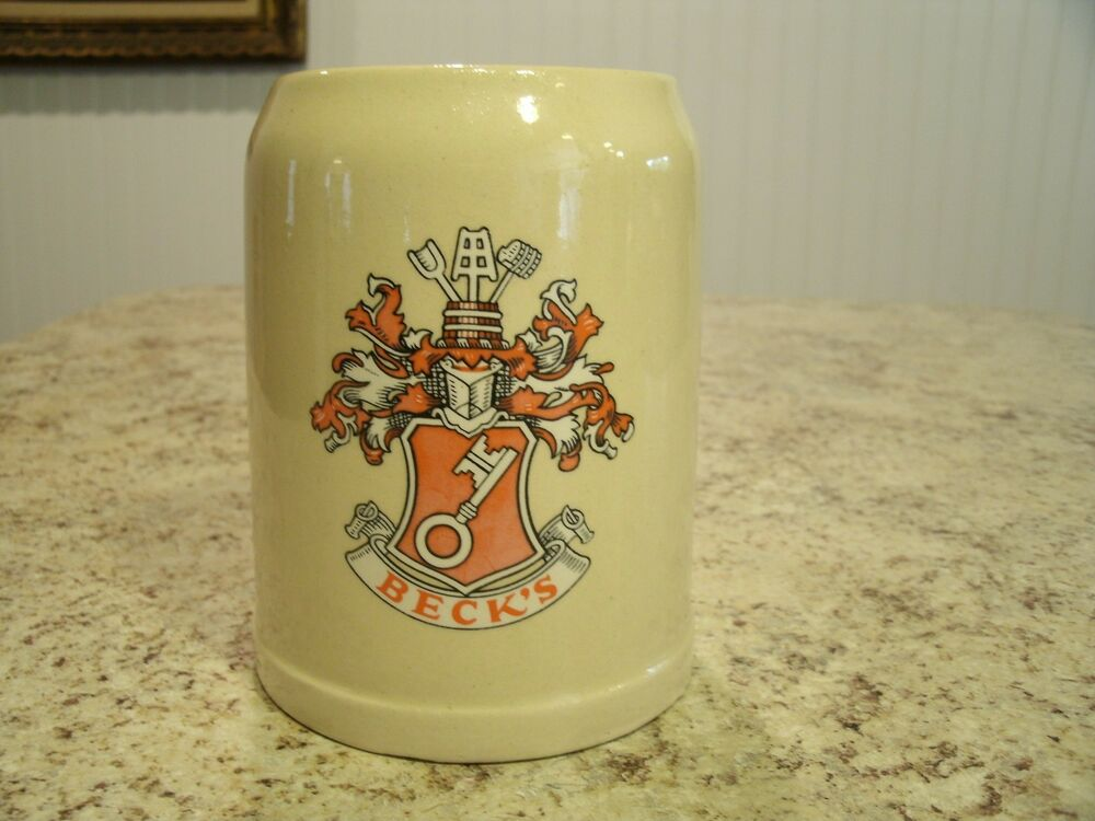 vintage gerz becks 0 5l stoneware beer stein mug tankard west germany ebay. Black Bedroom Furniture Sets. Home Design Ideas