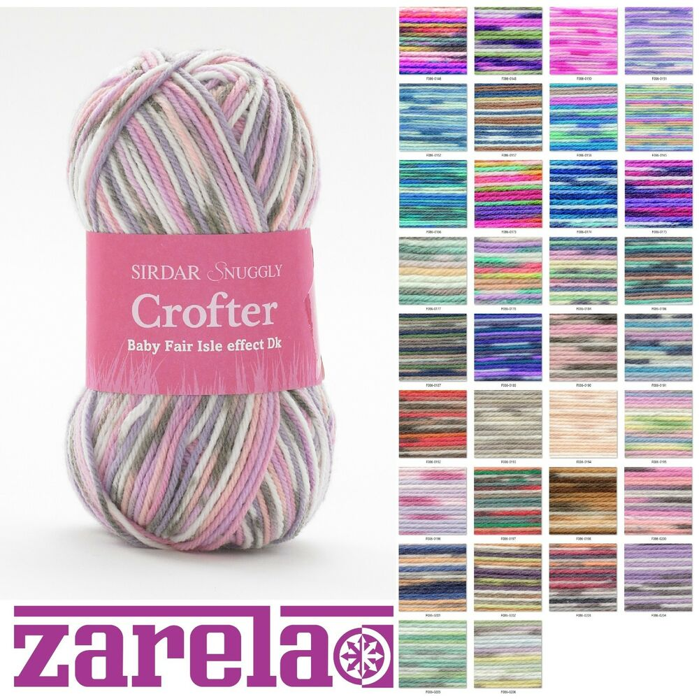 Sirdar Snuggly Baby Crofter Dk F086 Wool Yarn 50g All