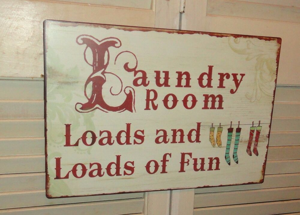 Laundry room metal sign wall decor signs home decor for Room decor signs