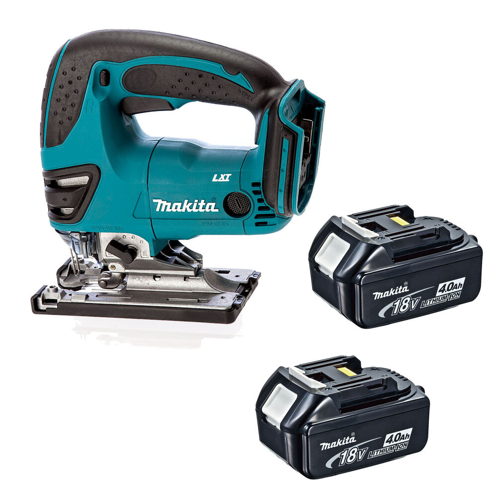 makita 18v lxt djv180 djv180z djv180rfe jigsaw and 2 x. Black Bedroom Furniture Sets. Home Design Ideas