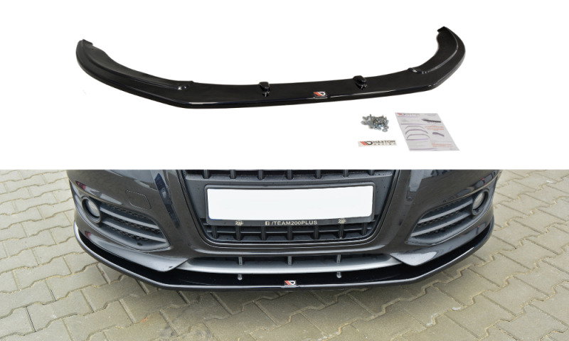 front splitter textured renault megane 3 rs 2010 2015 ebay. Black Bedroom Furniture Sets. Home Design Ideas