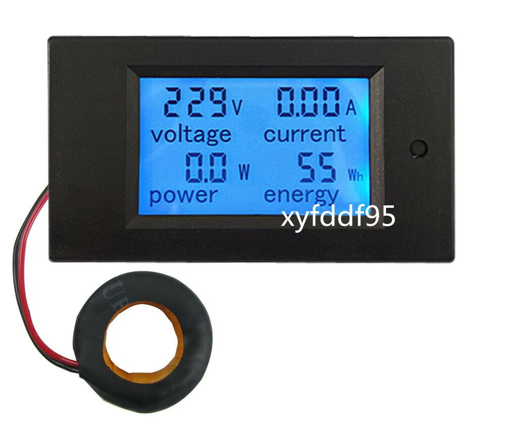 Watt Meter For Speakers: AC 100A Power Meters Monitor Volt Amp KWh Watt Digital