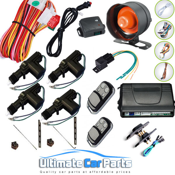 Remote Central Locking Kit And Car-Van Alarm With