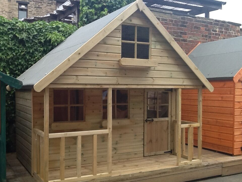 6x8 Childrens Wooden Playhouse Two Storey Kids Mini