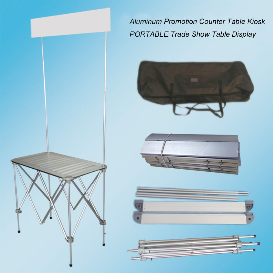 Portable Exhibition Table : Portable trade show table display booth promotion counter