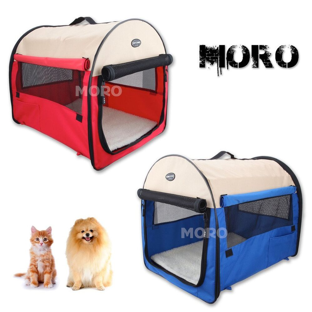 Pet dog cat carrier crate travel cage kennel tent house m for Xl dog travel crate