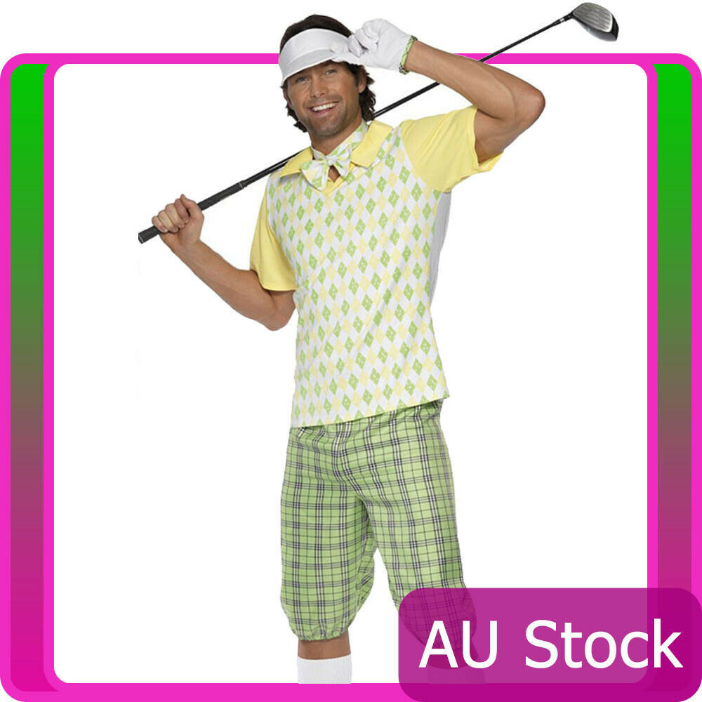 gone golfing costume golfer pub golf stag night mens fancy