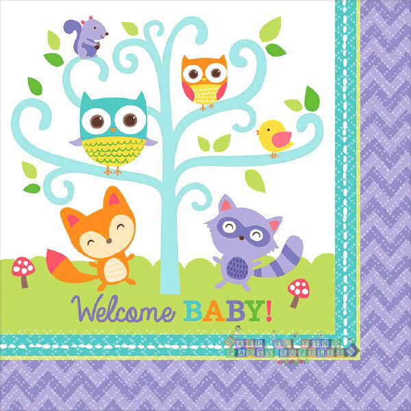 baby shower woodland welcome lunch napkins 16 party supplies