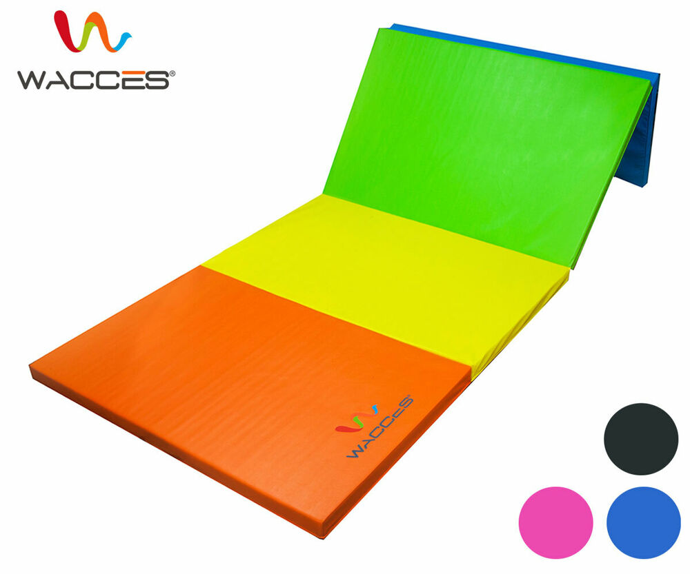"Wacces Folding Mat 4x8 X2"" Gymnastics Gym Exercise Yoga"