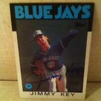 1986 Topps Jimmy Key Auto Signed Card