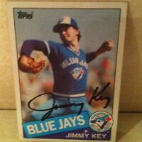 1985 Topps Jimmy Key Auto Signed Card