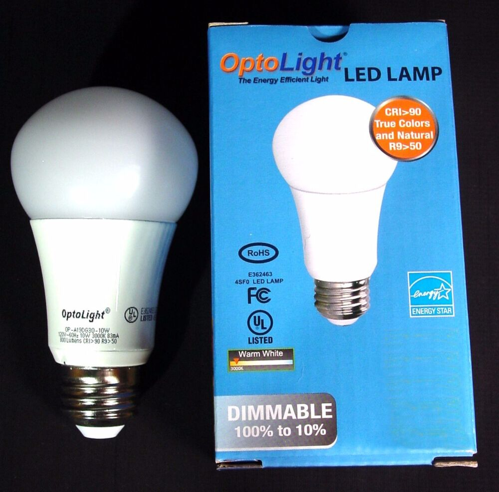 led dimmable light bulb 800 lumens 10 watt 60 watt 3000k saves money energy ebay. Black Bedroom Furniture Sets. Home Design Ideas