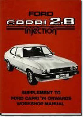 ford capri 2 8 injection supplement workshop manual official rh ebay com ford capri service manual pdf ford capri workshop manual