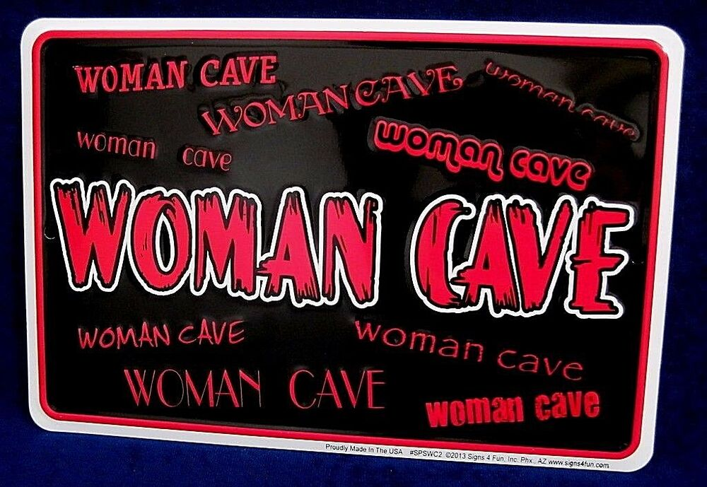 Man Cave Signs For Garage : Woman cave us made embossed metal tin sign kitchen