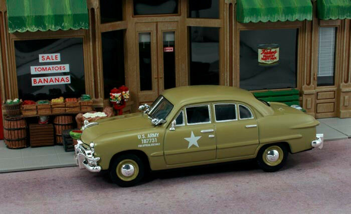 first response 1 43 us army staff car 1950 ford great 4 model train layouts ebay. Black Bedroom Furniture Sets. Home Design Ideas
