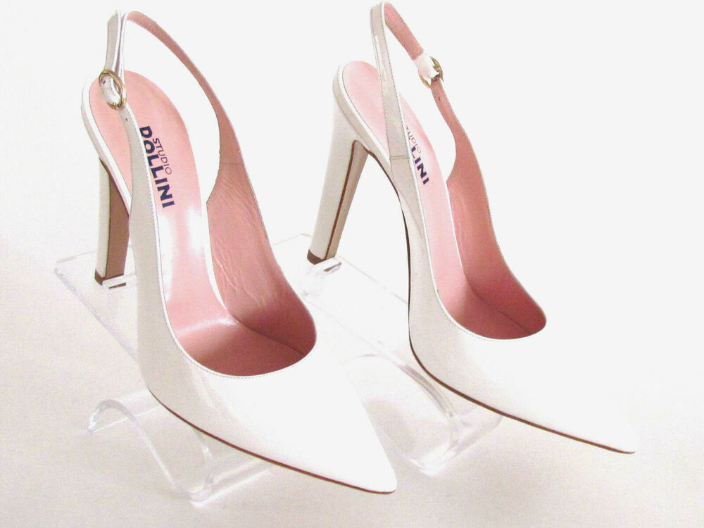 Ladies White Patent Leather Shoes