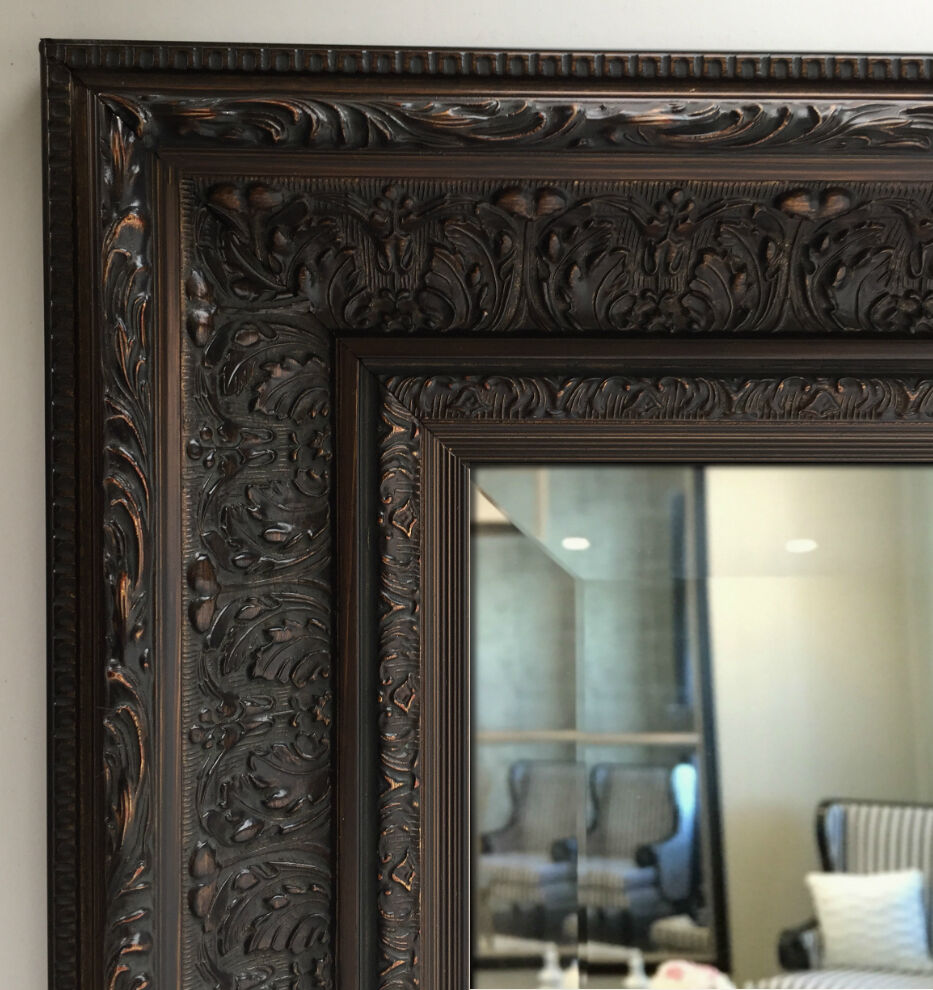 West Frames Elegance Ornate Embossed Bronze Wood Framed
