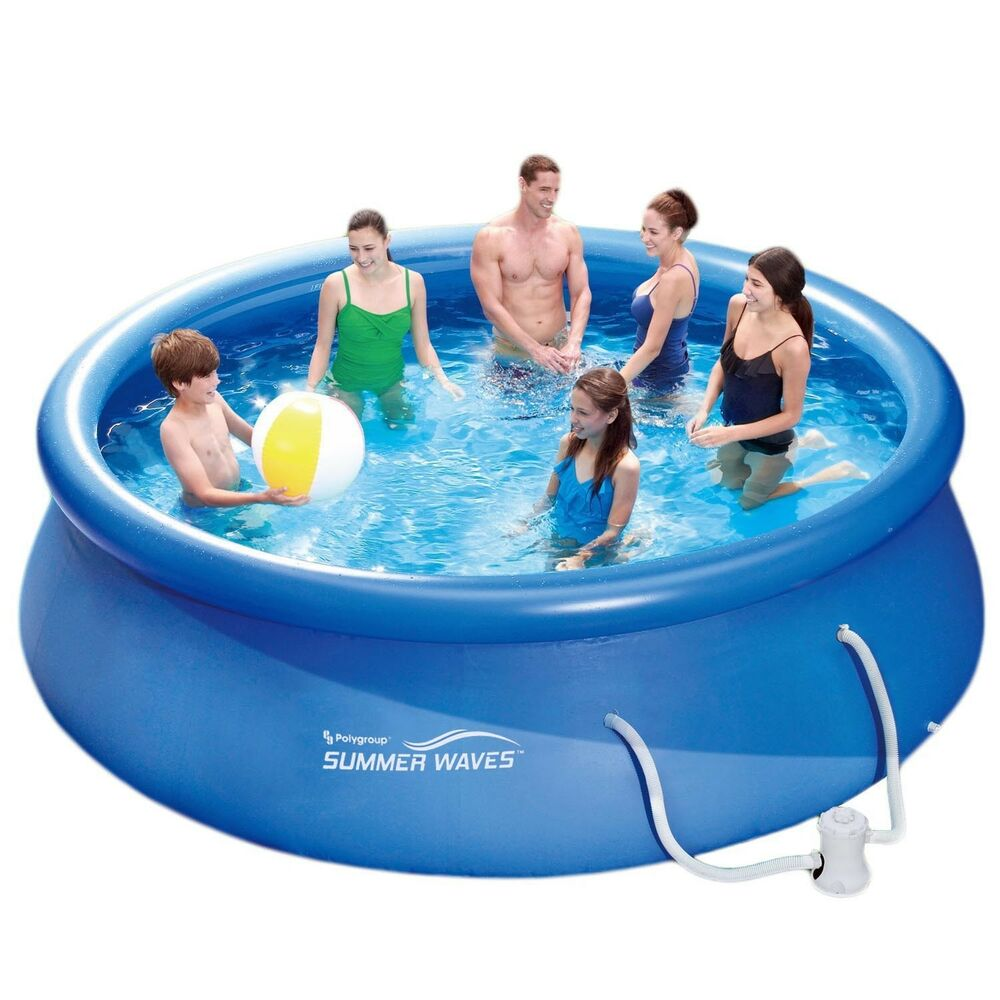 Summer waves fast set quick up pool 366x91cm swimmingpool for Quick up pool obi