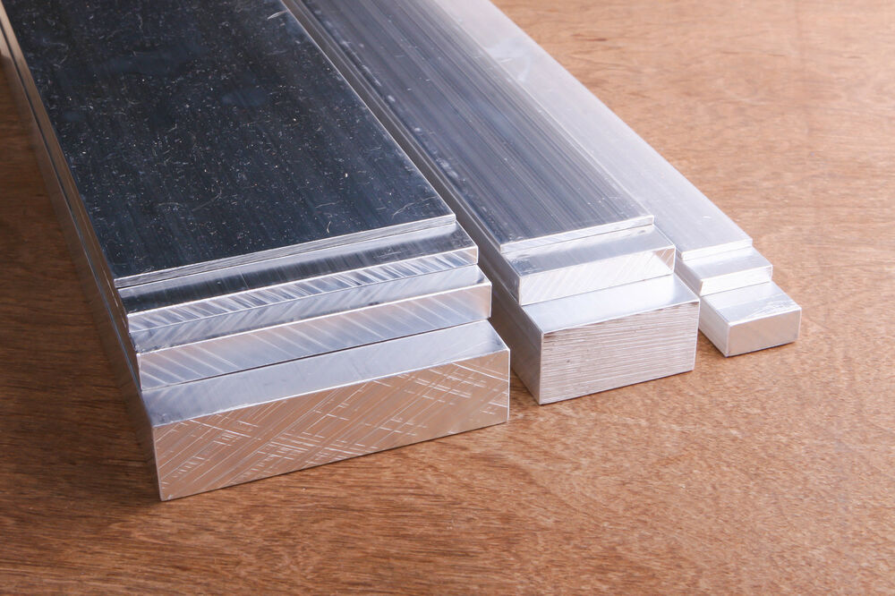 Aluminium solid flat bar all widths and thicknesses mm
