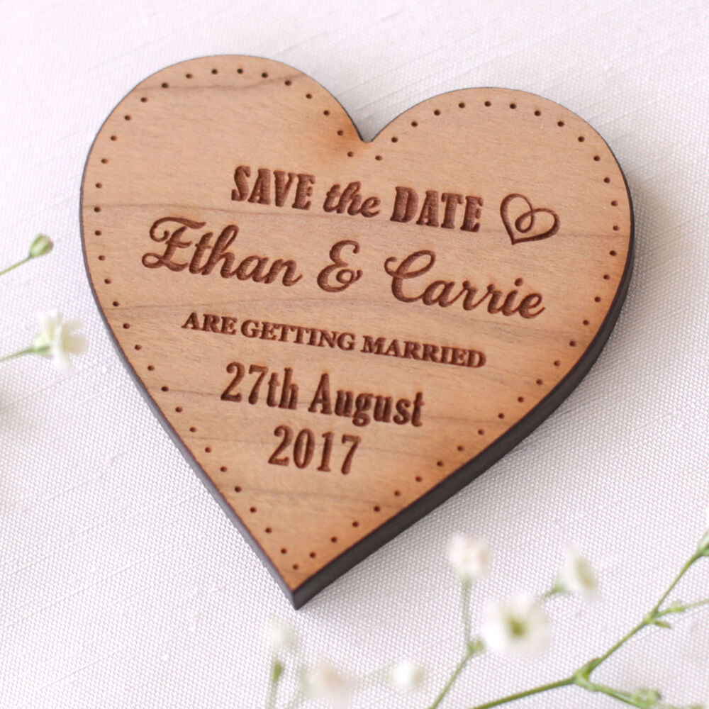 Wooden Save The Date Magnet Wood Wedding Save The Dates ...