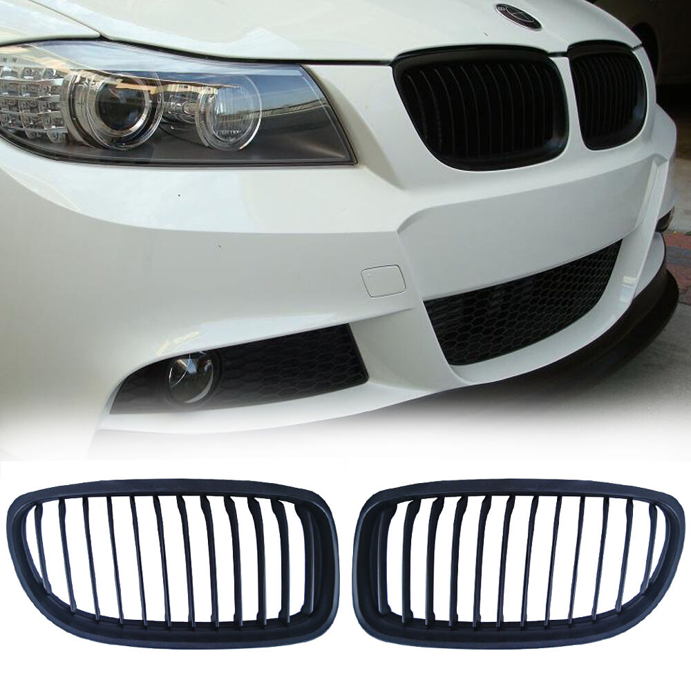 Bmw Grills: Black Front Kidney Grill Grille For BMW E90 E91 LCI 325i