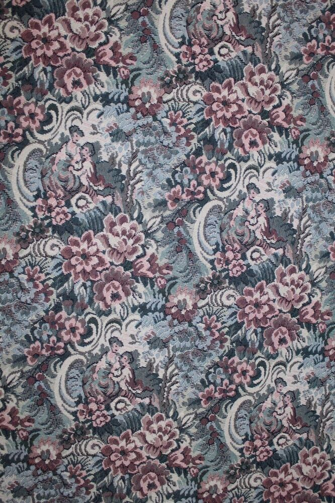 8 yds romantic floral tapestry upholstery fabric 505 for Victorian floral fabric
