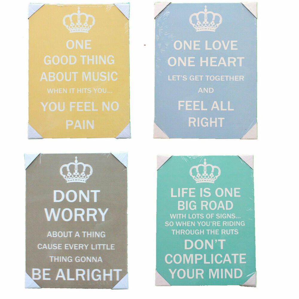 Quote Plaques: Wooden Wall Art Plaque Sign Saying Quotes 40x30cm- Music