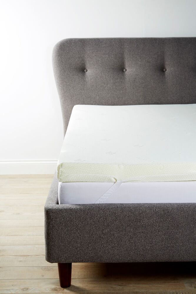 Orthopaedic Memory Foam Mattress Toppers Includes Zip Cover With Straps Ebay
