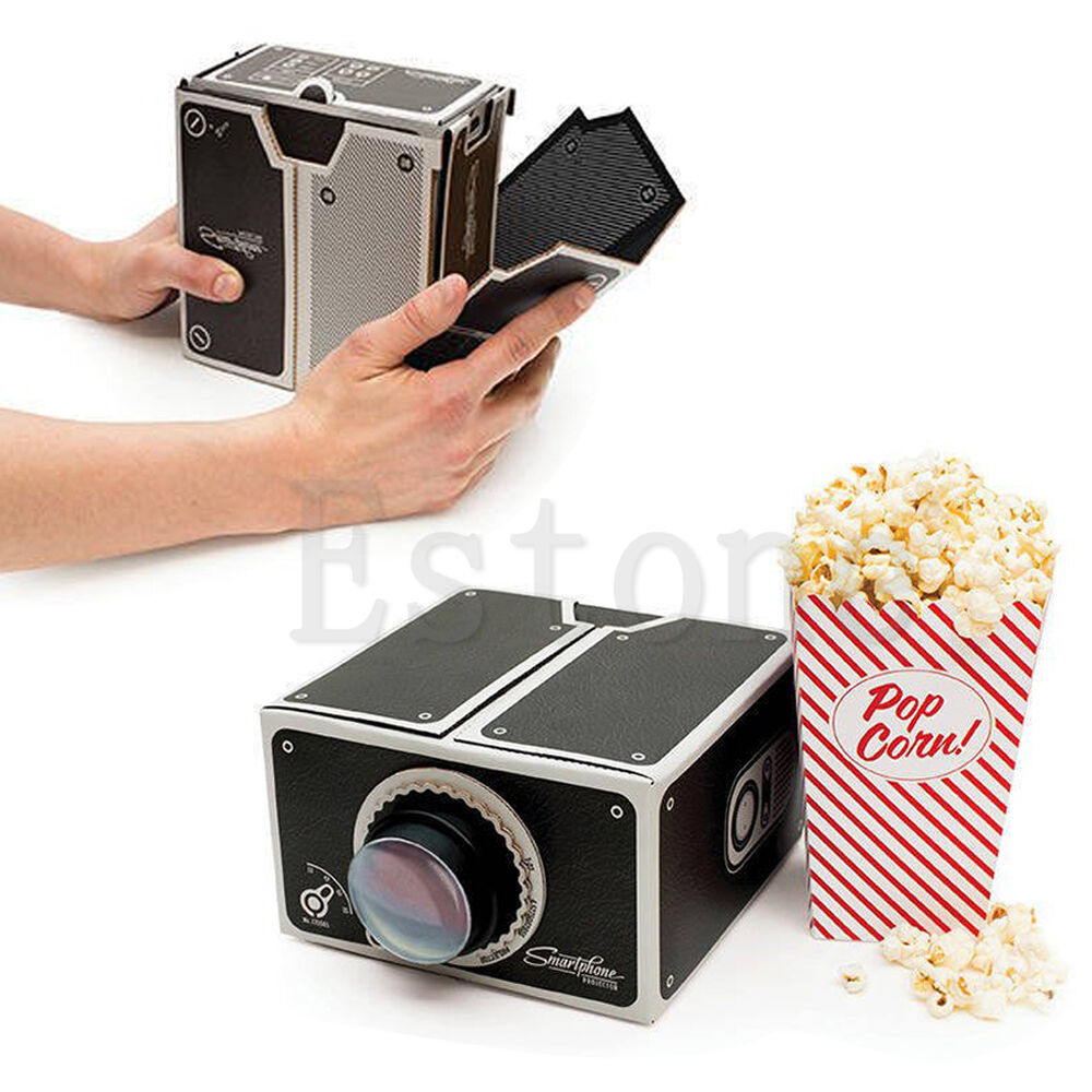 New cardboard smartphone projector diy mobile phone for Latest pocket projector