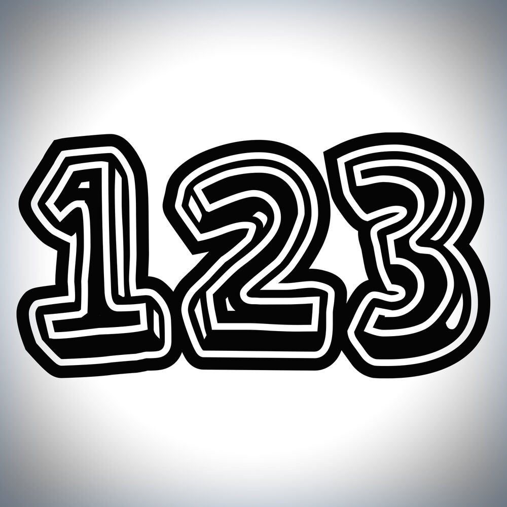 3x Custom Race Numbers 3d Style Vinyl Stickers Dirt Bike