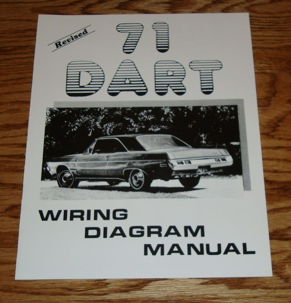 1971 dodge dart revised wiring diagram manual 71 ebay 71 dodge charger  wiring diagram 71 dodge