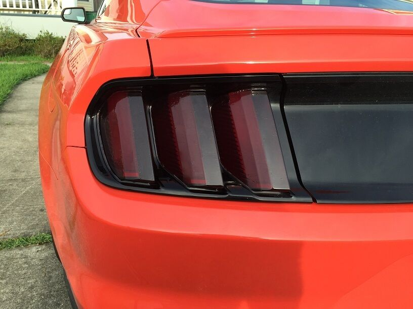 2015 2017 Ford Mustang Smoke Tail Light Tint Cover Smoked