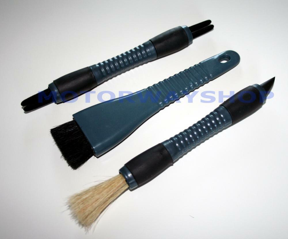 car detail brush set interior dashboard vent crevice dash dusting tool 3 piece ebay. Black Bedroom Furniture Sets. Home Design Ideas