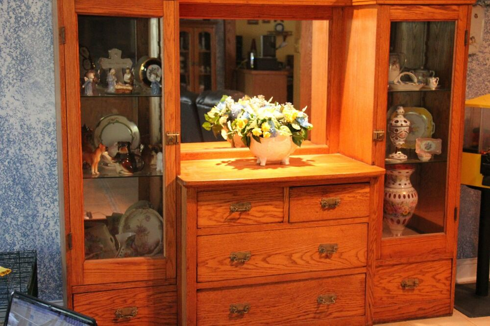 Need To Sell Antique Oak Sideboard And China Cabinet Ebay