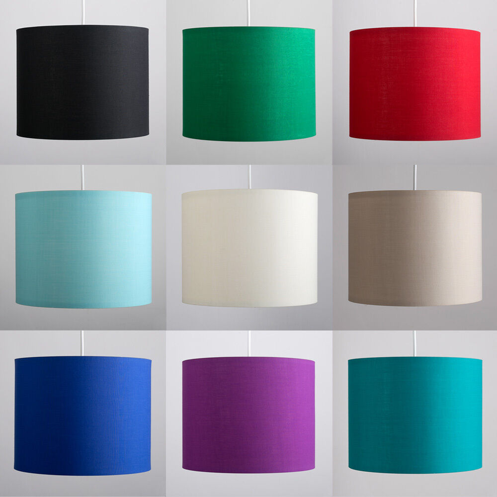 Ceiling Lamp Shade Doesn T Fit: Modern Fabric Cotton Easy Fit Ceiling Pendant Drum Light