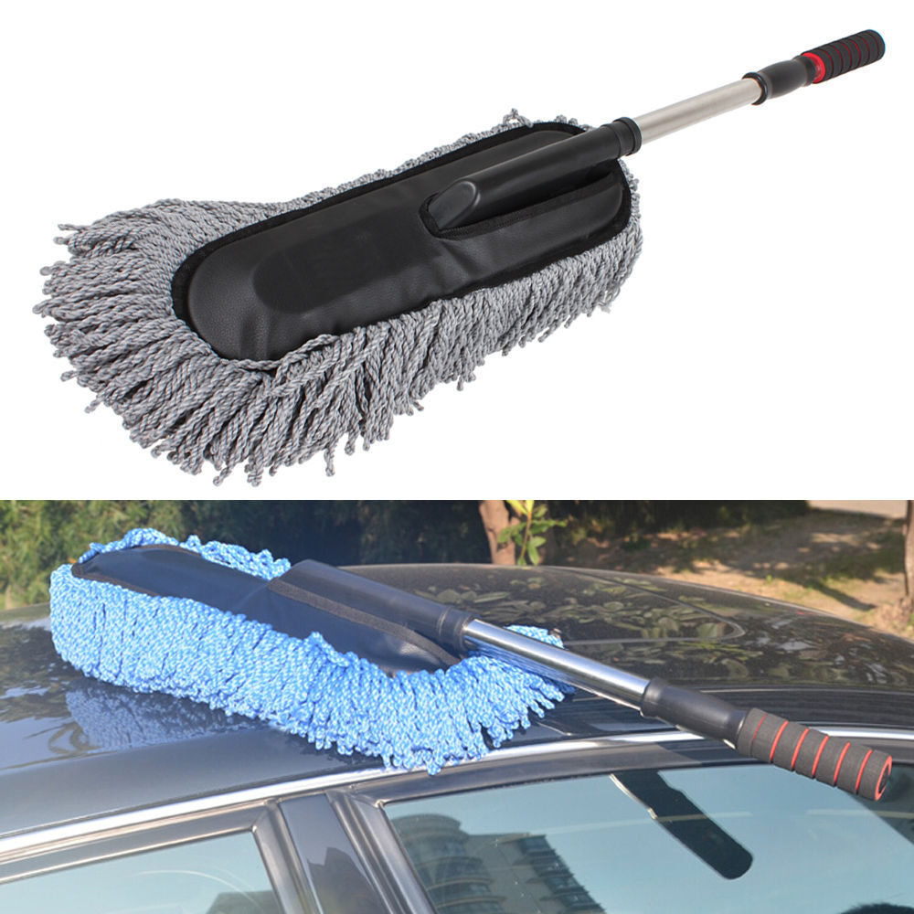 telescoping car wash duster brush dirt dust mop cleaning dusting mops dusters ebay. Black Bedroom Furniture Sets. Home Design Ideas