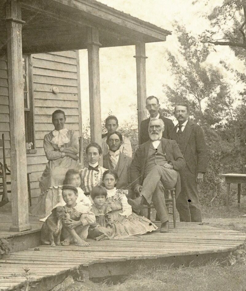 Family with children and dog posing for the camera by house antique photo ebay - Houses for families withchild ...