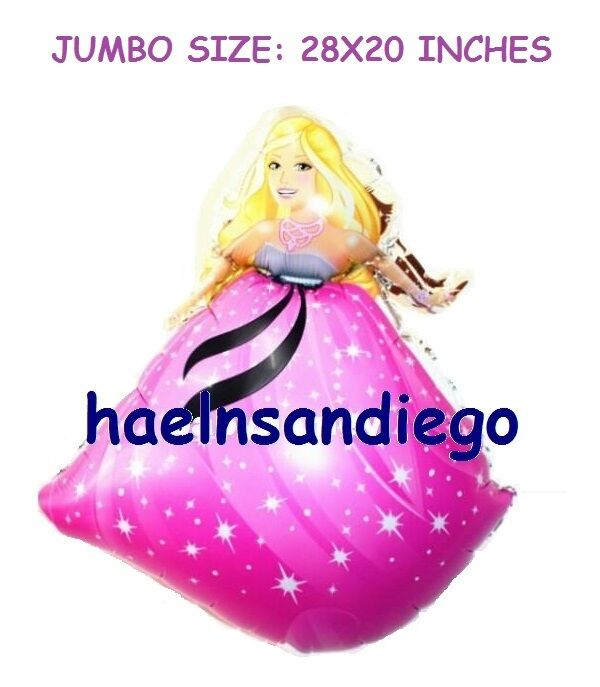Princess BARBIE Birthday Balloons!! FREE Shipping from US ...