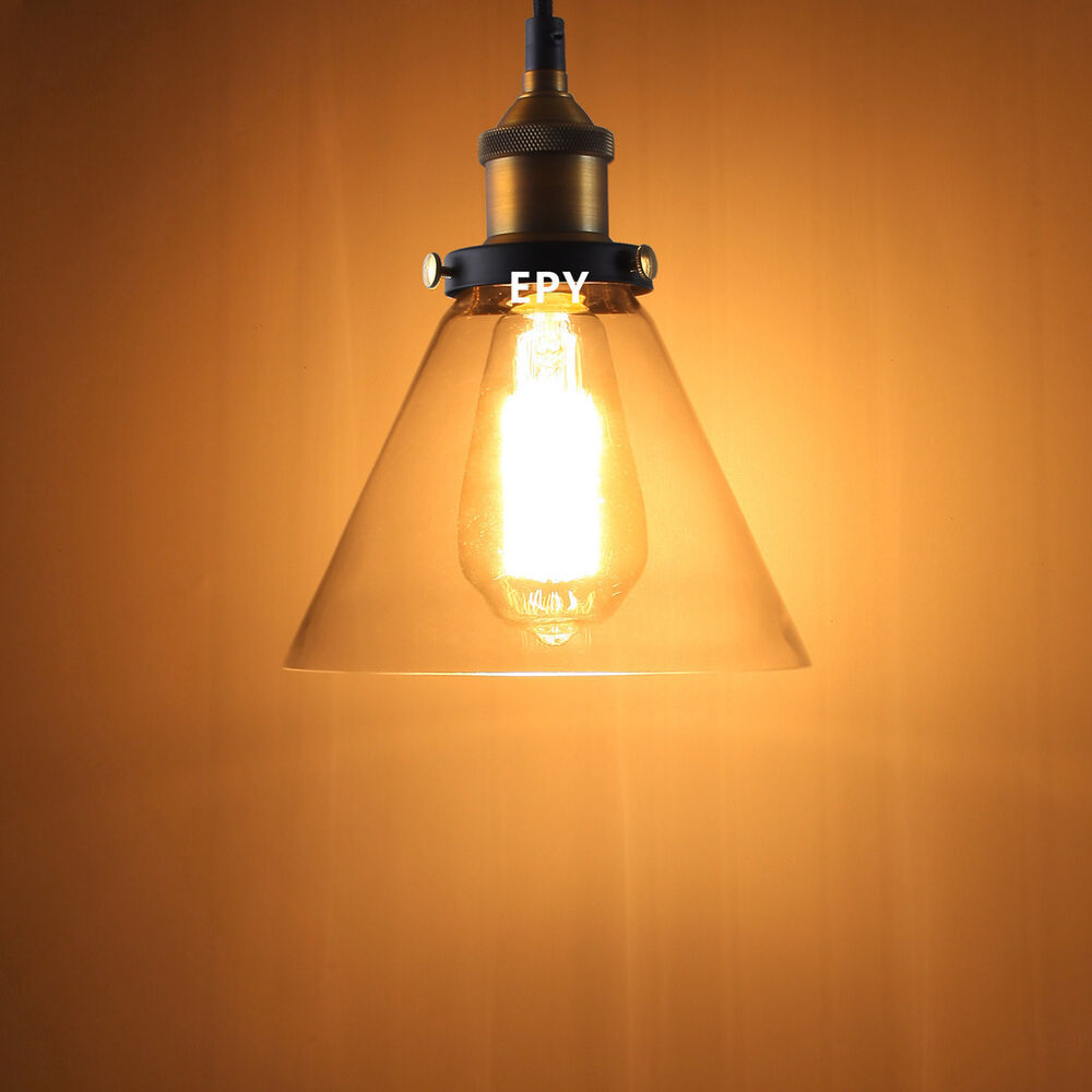 Vintage Industrial Glass Pendant Light: OZ MODERN VINTAGE INDUSTRIAL GLASS PENDANT LIGHT LAMP