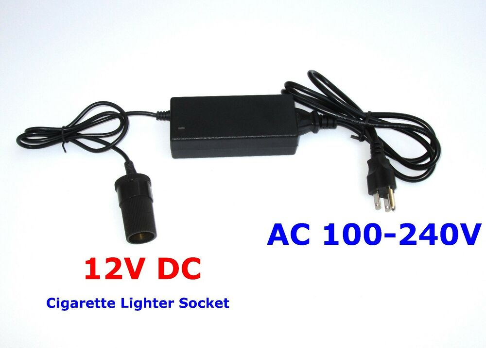 5 amp 120v ac to 12v dc power adapter with car cigarette lighter socket ebay. Black Bedroom Furniture Sets. Home Design Ideas