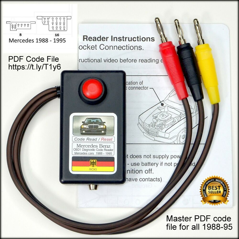Mercedes obd1 diagnostic code reader tool w124 201 300e for Mercedes benz diagnostic codes