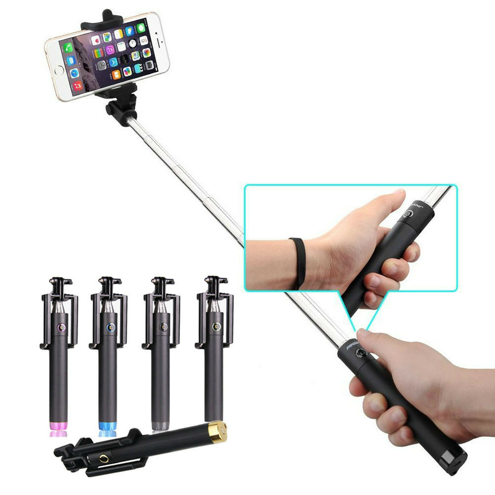 extendable bluetooth wireless handheld selfie stick for smart phones iphone ebay. Black Bedroom Furniture Sets. Home Design Ideas