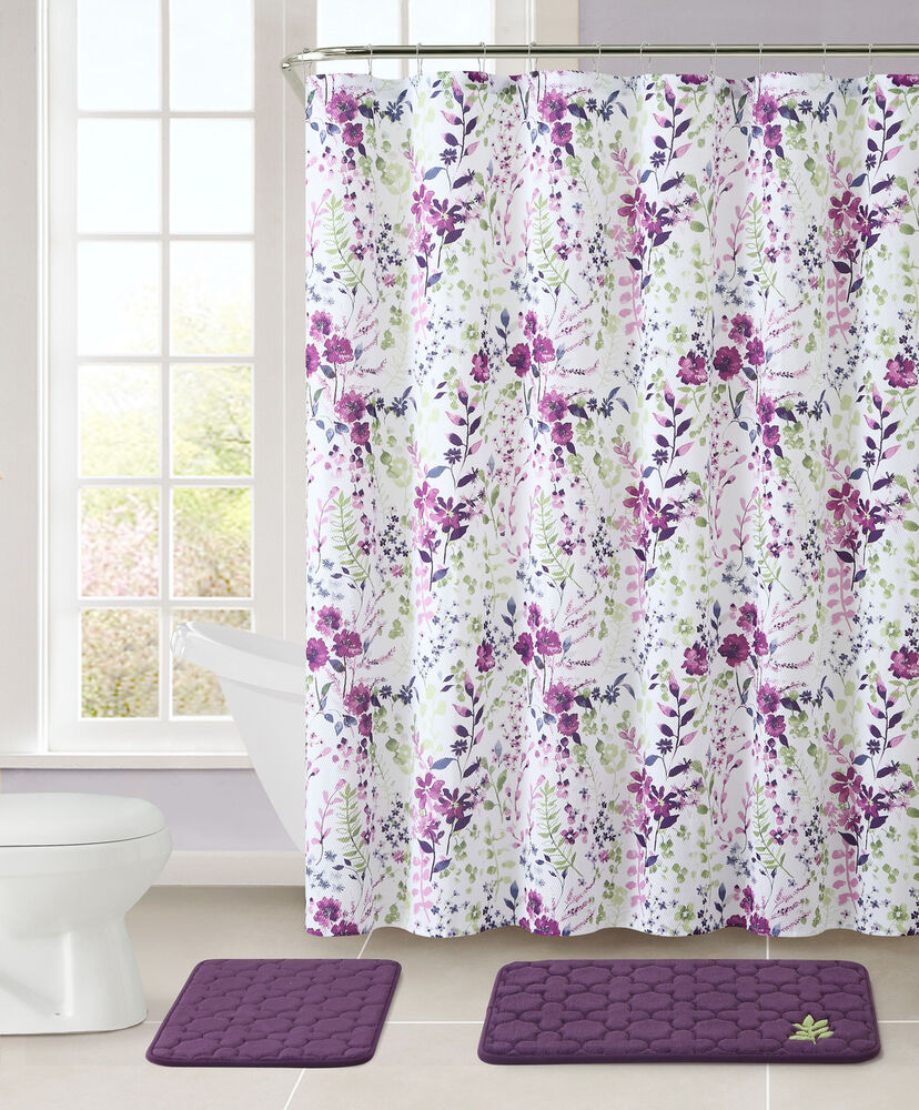 bathroom sets with shower curtain 2