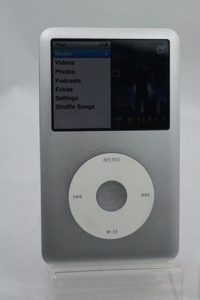fully refurbished 120gb silver apple ipod classic 7th gen. Black Bedroom Furniture Sets. Home Design Ideas