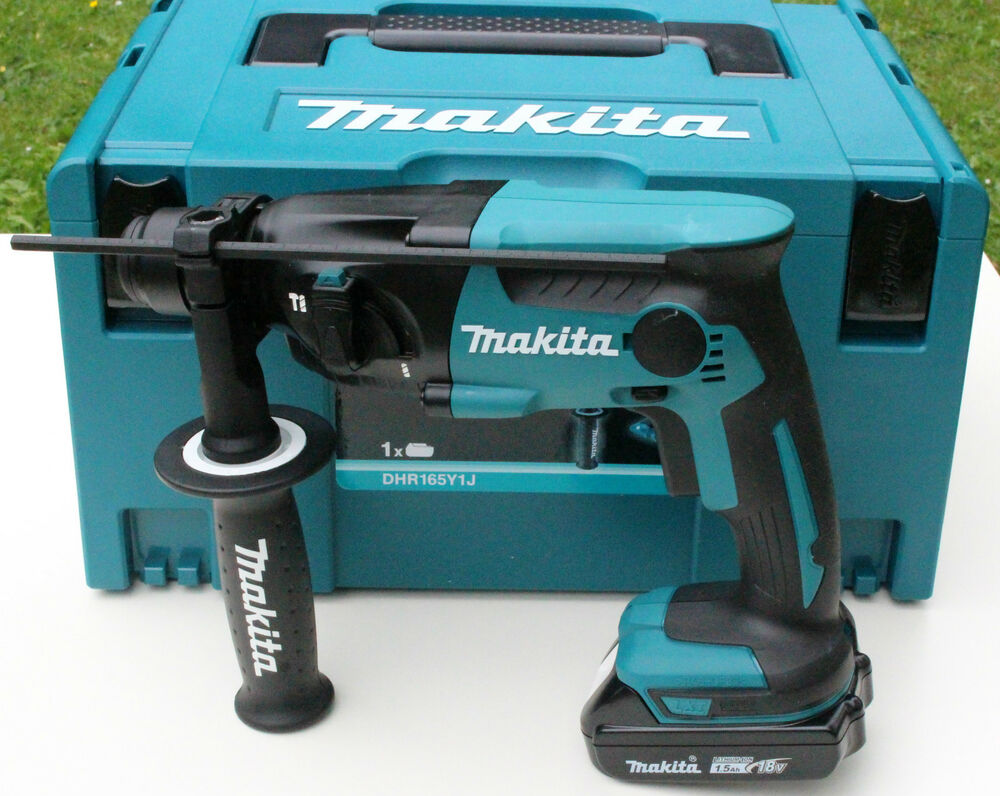 makita dhr165y1j akku bohrhammer 18v solo 1 makita akku 18v 1 5ah im makpac ebay. Black Bedroom Furniture Sets. Home Design Ideas