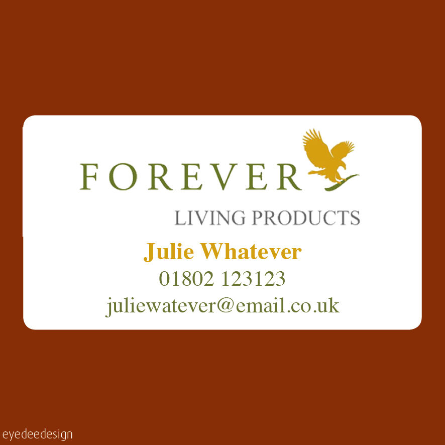 65 X Personalised Forever Living Products Stickers Labels Address Seals