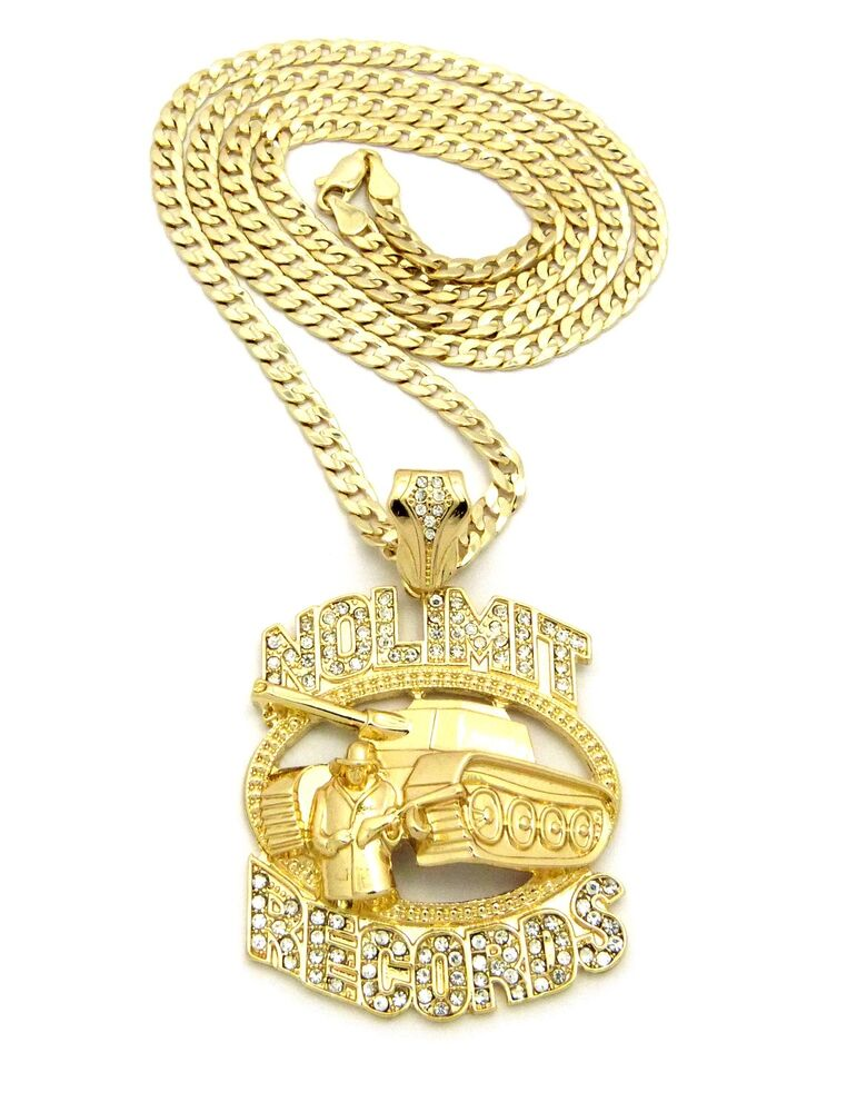 Hip Hop Iced Out No Limit Records Tank Pendant Various 30