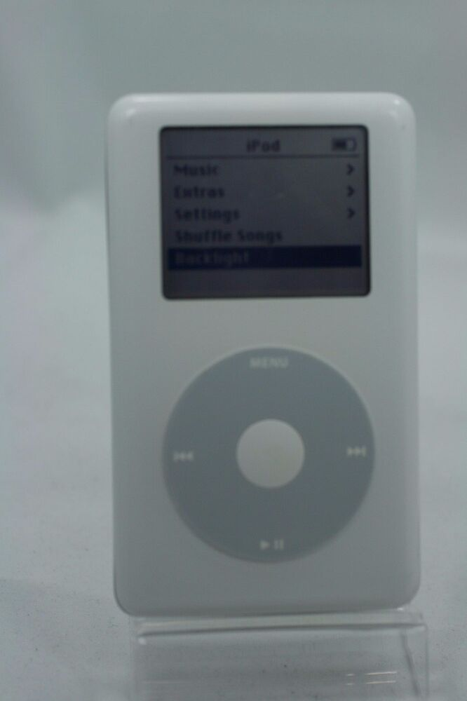 refurbished 20gb white apple ipod classic 4th gen 20 gb a1059 clickwheel mp3 ebay. Black Bedroom Furniture Sets. Home Design Ideas