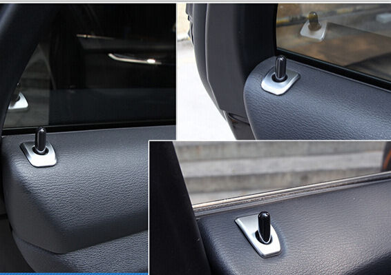 steel matt interior door lock pins cover trim 4pcs for bmw x5 e70 2009 2013 ebay. Black Bedroom Furniture Sets. Home Design Ideas